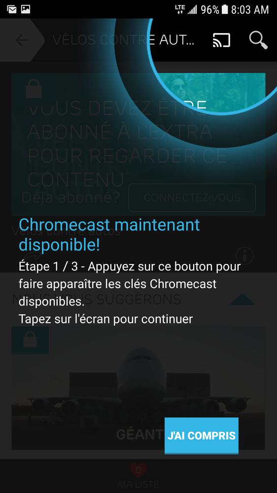 TouTV offre le visionnement ChromeCast