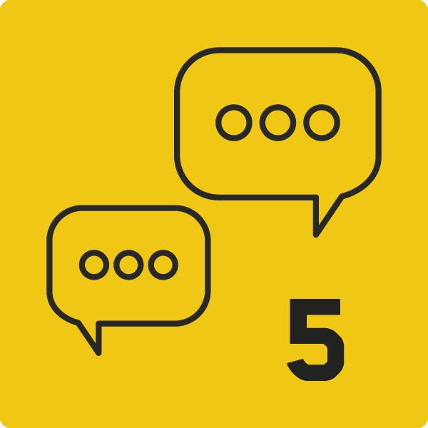 Conversations lancées=5