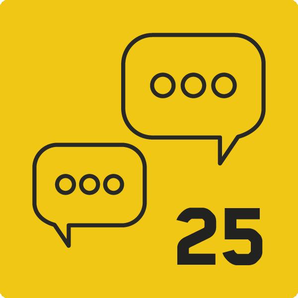Conversations lancées=25