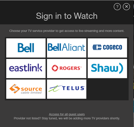 Solved: Videotron rarely an option for watching online con    - La